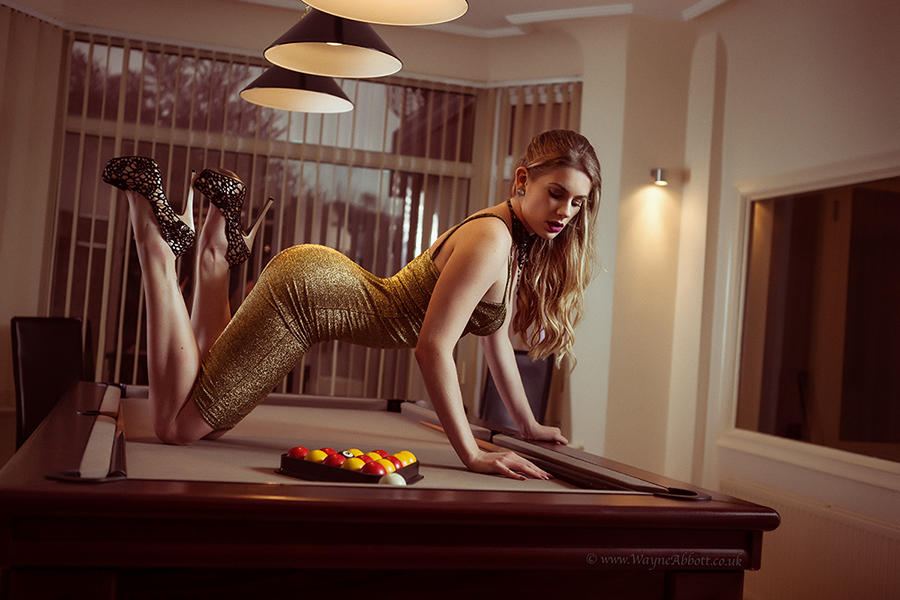 Pool Table Glam... / Photography by Wayne Abbott, Model Artemis Fauna / Uploaded 19th December 2016 @ 02:06 PM