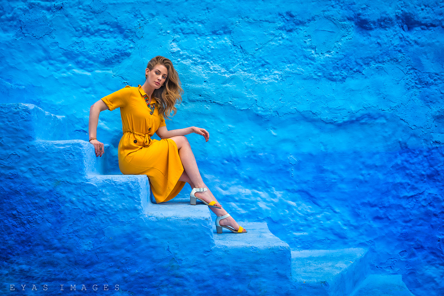 Blue and yellow, feeling mellow... / Photography by Eyas, Model Artemis Fauna / Uploaded 13th November 2019 @ 12:18 PM