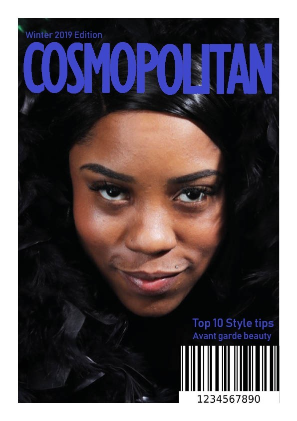Magazine cover made by indesign for assignment / Photography by Grace Make up Artistry and Hair, Makeup by Grace Make up Artistry and Hair, Post processing by Grace Make up Artistry and Hair / Uploaded 14th February 2020 @ 12:42 PM