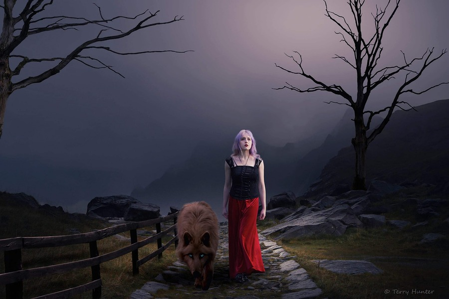 Lady and the wolf / Photography by HunterPhotography, Model Maretta Vergette, Post processing by HunterPhotography / Uploaded 14th January 2019 @ 05:29 PM