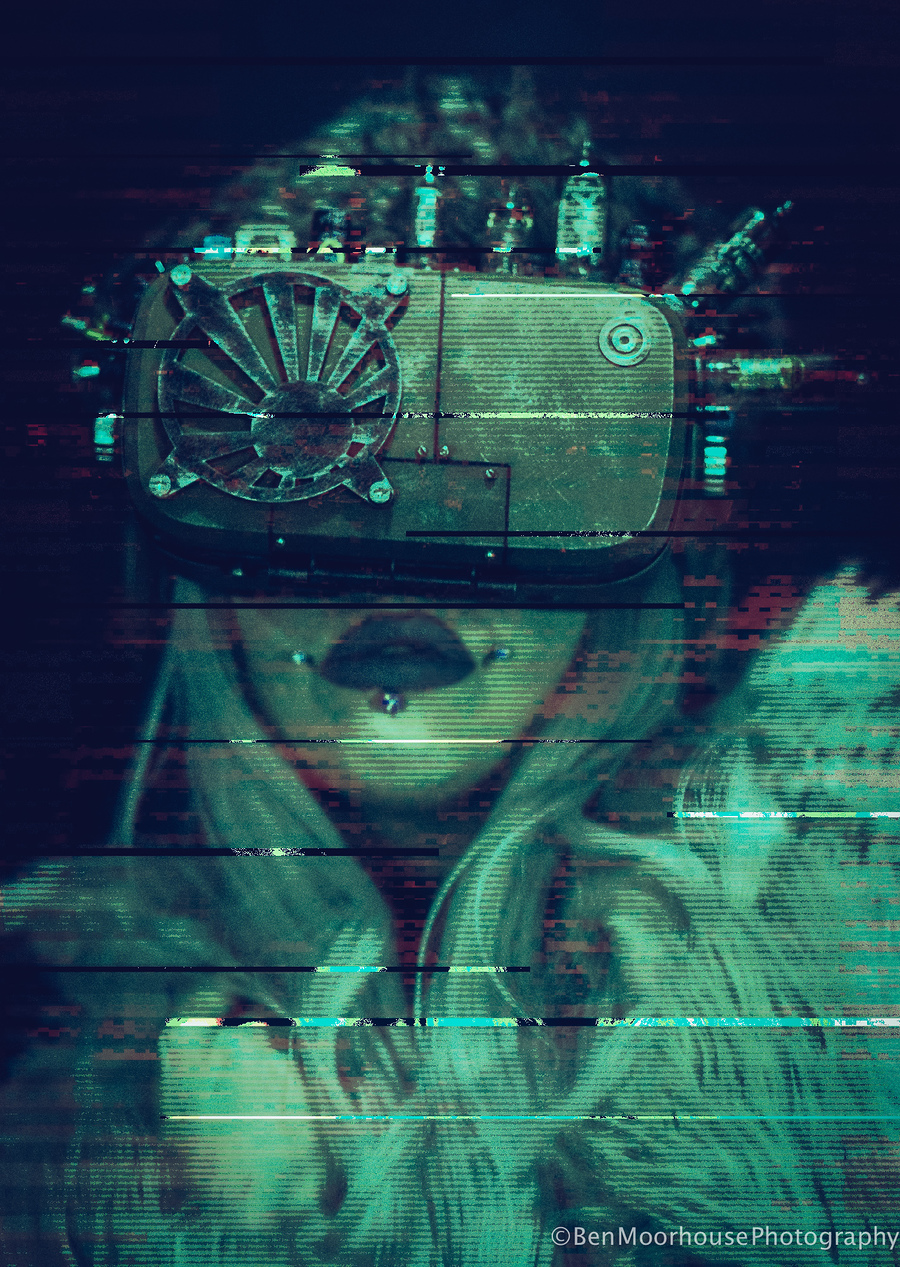 GliTcH / Photography by Ben Moorhouse, Model Freyja Phoria, Post processing by Ben Moorhouse / Uploaded 2nd August 2017 @ 03:32 PM