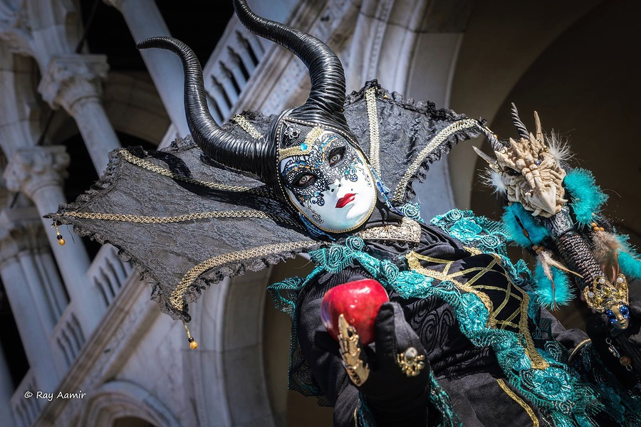 Costume At Venice Carnival / Photography by Ray Aamir / Uploaded 28th February 2017 @ 10:29 PM