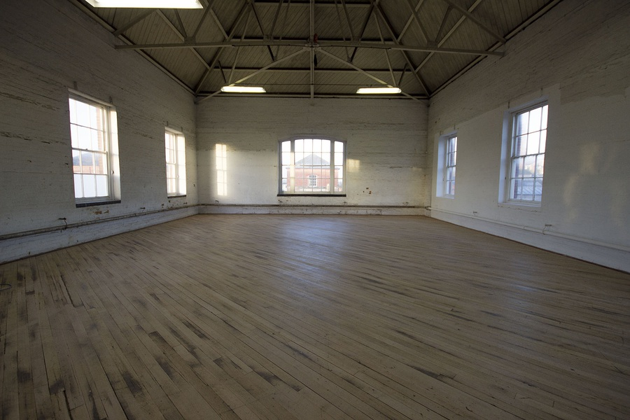 Re-furbished floor in the main shoot studio