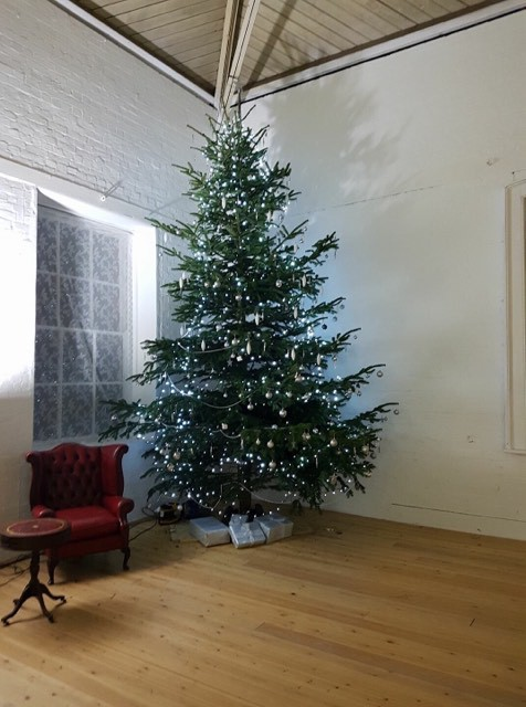 Merry Christmas! 18 ft tree in The White Room