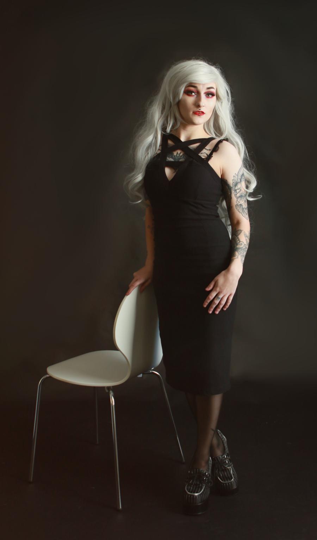 Black dress. / Photography by MidgePhoto, Model Jade Alexandra Model, Makeup by Jade Alexandra Model / Uploaded 6th February 2019 @ 10:32 PM