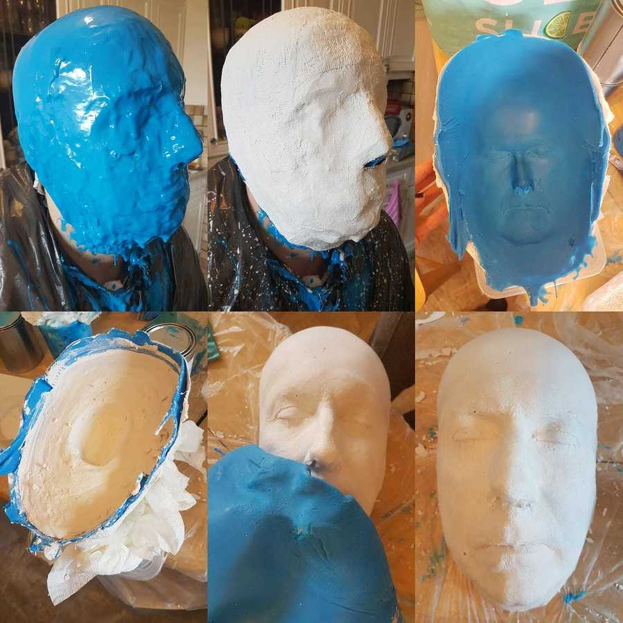 Face Casting Process - Rob Davies 2018 / Model Rob Davies, Makeup by SkulledRabbitFX / Uploaded 11th May 2018 @ 06:14 PM