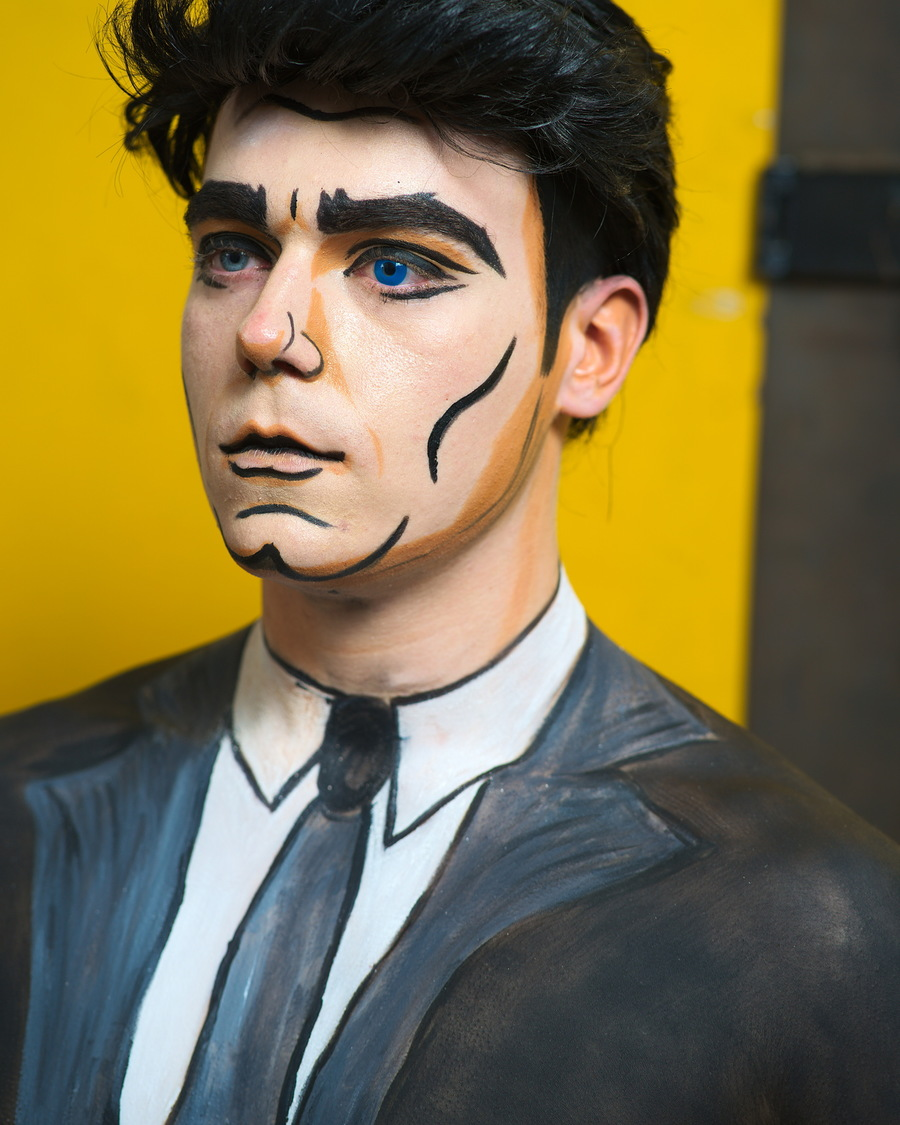 'Archer Still' - That c-ART-oon Look 2018 / Photography by Richard Cunningham, Model MrMatt, Makeup by SkulledRabbitFX, Taken at SS Creative Photography, Hair styling by SkulledRabbitFX / Uploaded 9th August 2018 @ 03:03 PM
