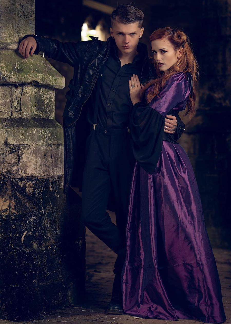 Gothic Couple / Photography by G J Photography, Models Megan Annie, Models Tyler Hasdell, Makeup by Megan Annie, Stylist Megan Annie, Hair styling by Megan Annie / Uploaded 8th October 2019 @ 07:56 PM