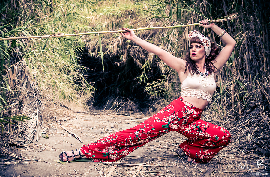Bamboo Ninja / Photography by Mr.B, Model ZoePage, Makeup by ZoePage, Taken at sperry1 / Uploaded 11th December 2017 @ 09:02 PM