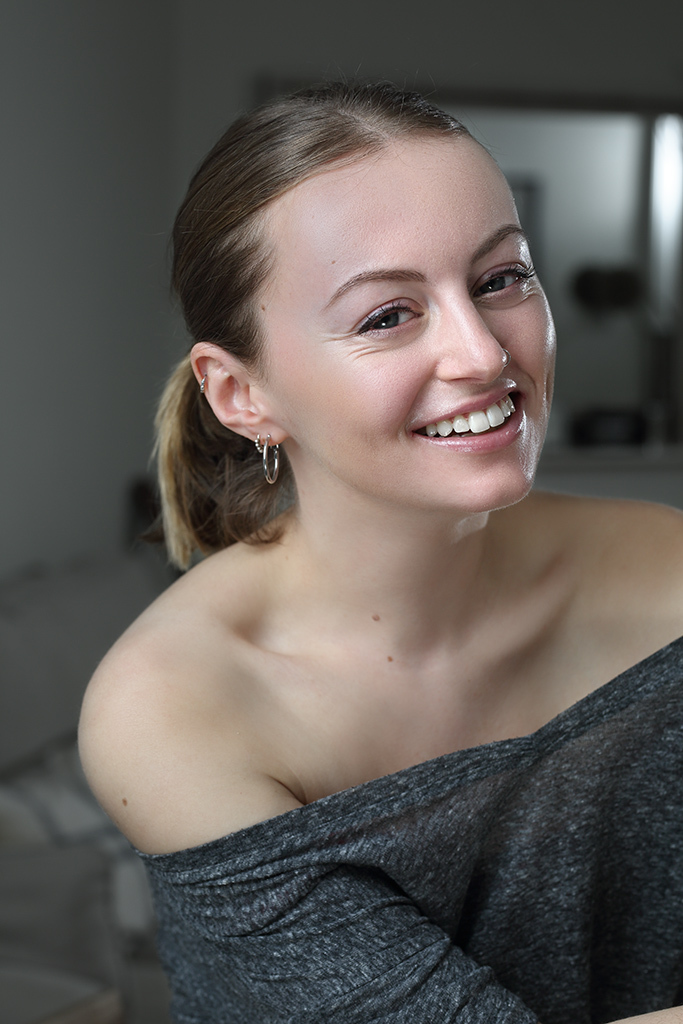 And she smiles too! / Photography by Pluck, Model Elvira Wolfe, Makeup by Elvira Wolfe / Uploaded 24th October 2019 @ 11:35 AM