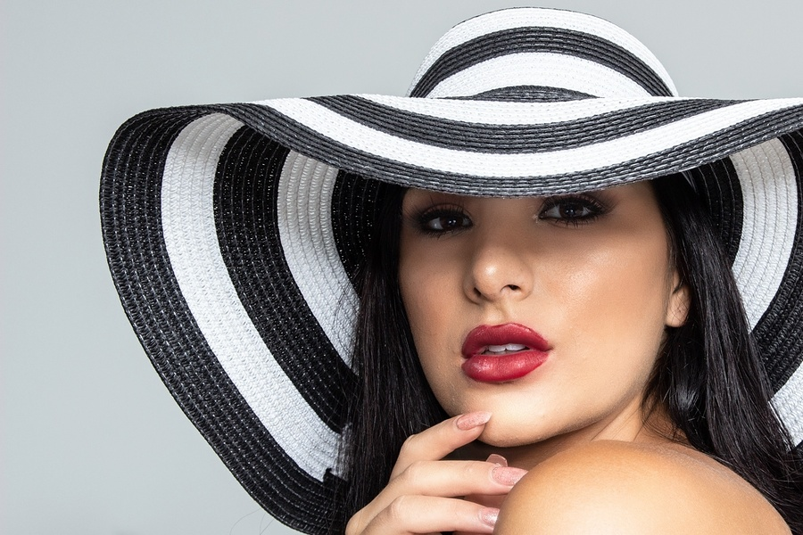 The striped hat / Photography by Val B, Model Elesha Eden / Uploaded 9th September 2019 @ 02:33 PM