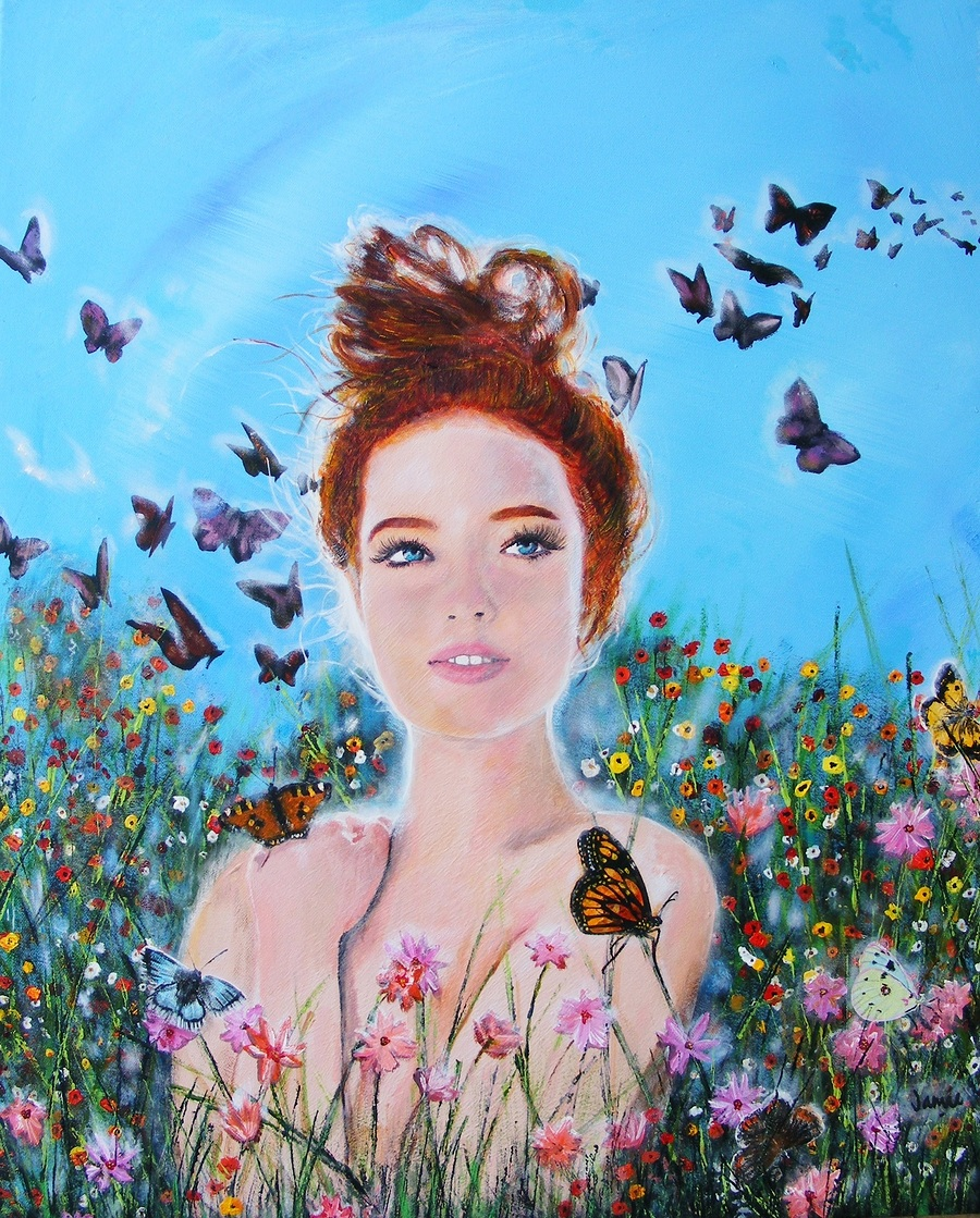 Butterfly Mornings / Artwork by jamie condon somerset artist / Uploaded 24th May 2018 @ 12:33 PM