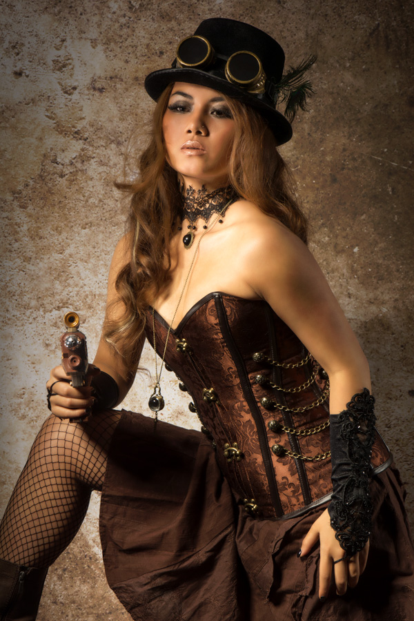 Steampunk / Photography by Steve Cooper, Model Venus Ann, Taken at Spitfire Studio Swindon / Uploaded 18th April 2014 @ 10:19 PM