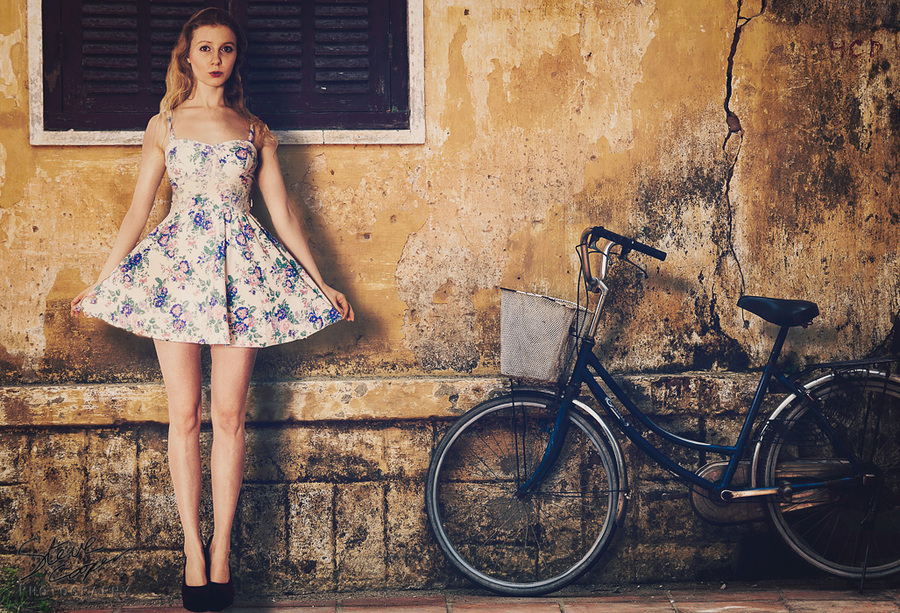 Bicycles are a girl's best friend / Photography by Steve Cooper, Model Lulu Lockhart / Uploaded 23rd January 2014 @ 11:34 AM