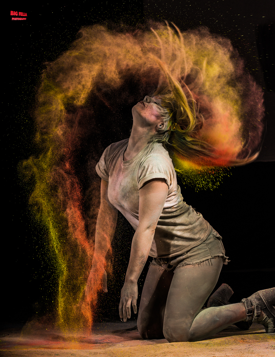 Powder Paint Shoot - Hair Flick / Photography by Big Fella Photography / Uploaded 4th June 2014 @ 08:00 PM