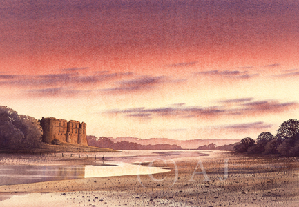 Carew Sunset / Artwork by AdrianJ / Uploaded 7th April 2017 @ 08:38 PM