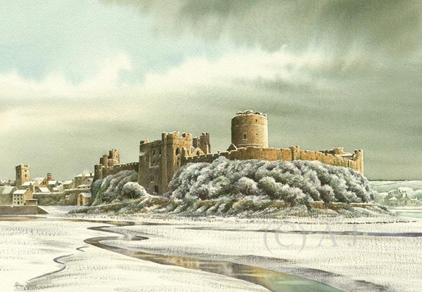 Pembroke Castle in the Snow / Artwork by AdrianJ / Uploaded 21st June 2017 @ 04:15 PM