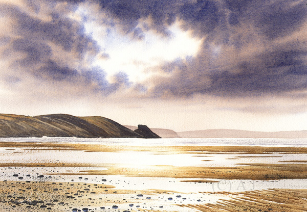 Grey Sky at Newgale / Artwork by AdrianJ / Uploaded 22nd June 2017 @ 04:37 AM