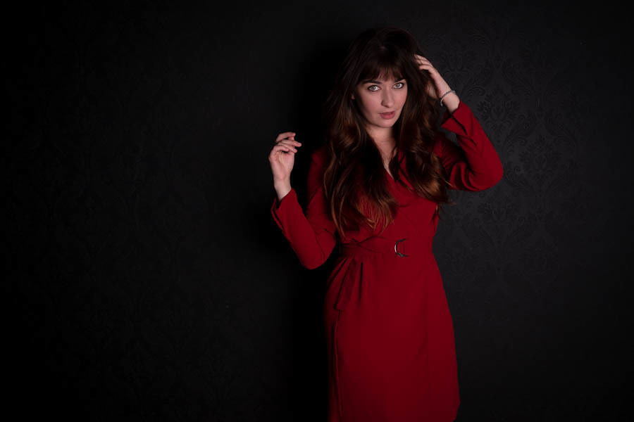 I see red / Photography by Andrew Priestly, Model Belle Eve, Taken at Pavilion Photographic Studio / Uploaded 14th October 2021 @ 04:52 PM
