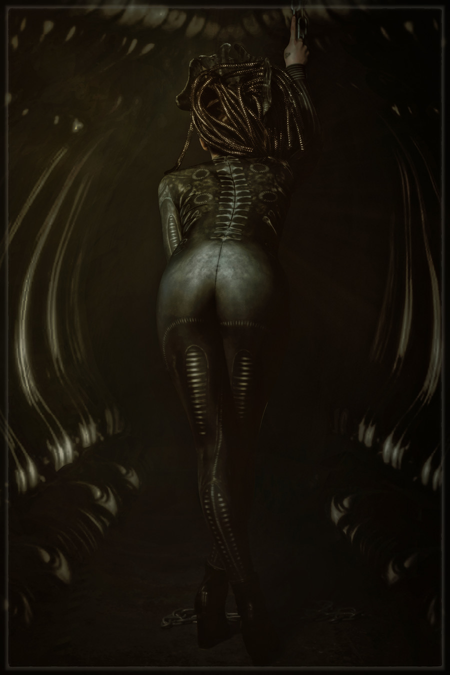 Giger / Photography by Mark Hampson Photography, Model antoniajay, Makeup by antoniajay, Post processing by Mark Hampson Photography, Stylist Mark Hampson Photography / Uploaded 8th November 2020 @ 03:00 PM