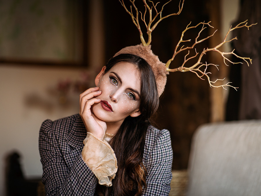 Stag / Photography by Stuart P, Model Cariad Celis, Makeup by Cariad Celis, Post processing by Stuart P, Stylist The Creativity Hub / Uploaded 10th October 2021 @ 12:08 PM