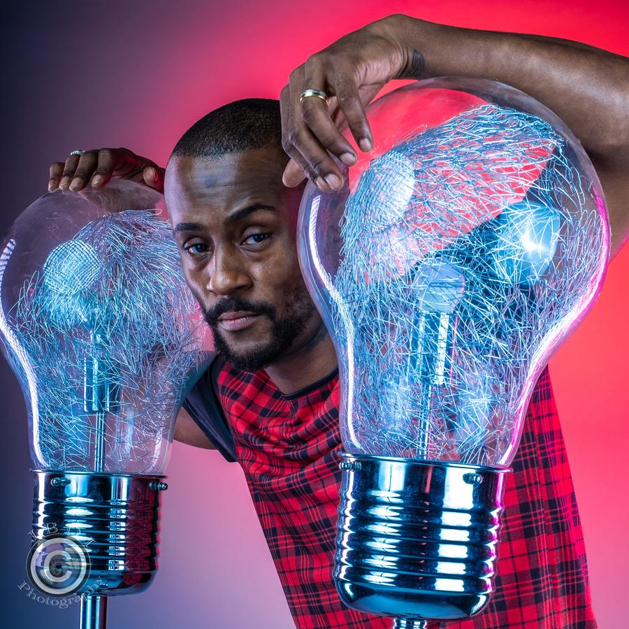 Lightbulb Moment / Photography by JBDI-photography, Model Emmanuel3, Designer JBDI-photography / Uploaded 12th October 2021 @ 02:53 PM