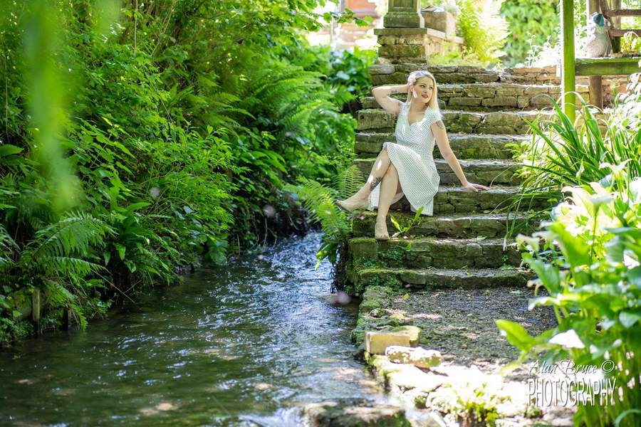 A Tranquil Spot / Photography by Alan Bruce, Model Melanie Bond (Butler), Makeup by Melanie Bond (Butler), Post processing by Alan Bruce, Stylist Melanie Bond (Butler), Hair styling by Melanie Bond (Butler) / Uploaded 28th August 2021 @ 04:52 PM