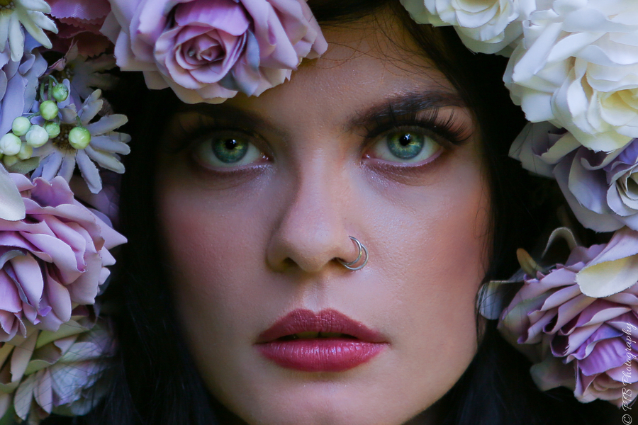 Queen of Flowers / Photography by PTB33, Model Maleficent, Makeup by SallyMarieMedia1, Post processing by PTB33, Stylist Enchanted Evermore Styled Workshops, Hair styling by SallyMarieMedia1 / Uploaded 28th August 2021 @ 05:21 PM