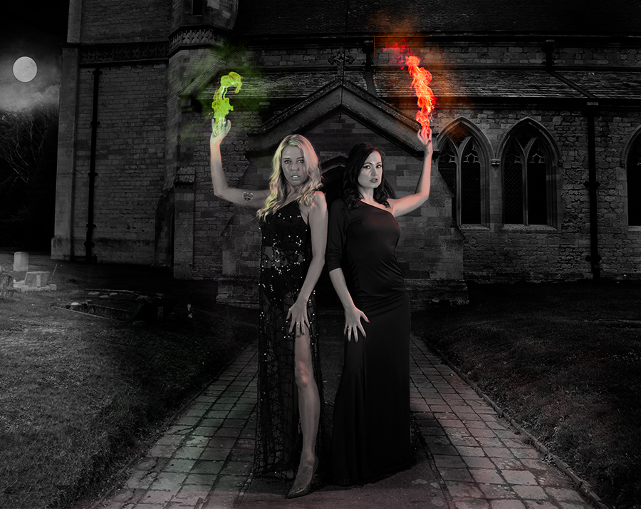 Look sister - a visitor... Can we kill it? / Photography by GIles1 (LRPS), Models BonnieBellotti, Models Charn, Post processing by GIles1 (LRPS) / Uploaded 19th September 2017 @ 03:10 PM