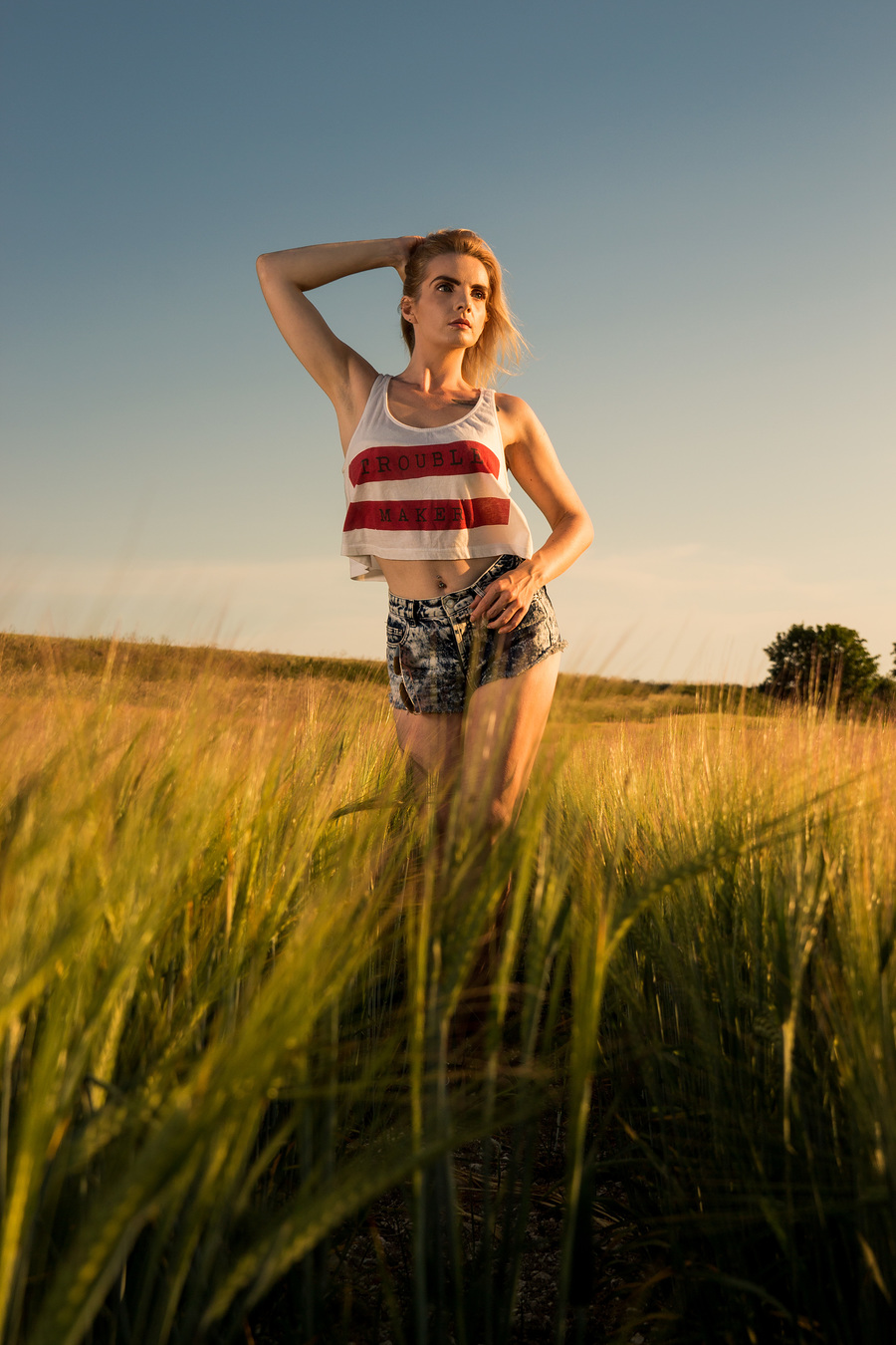 Just standing in a barley field watching the world go by! / Photography by N Newby Photographic, Model LeahMeraki / Uploaded 4th July 2020 @ 10:12 PM