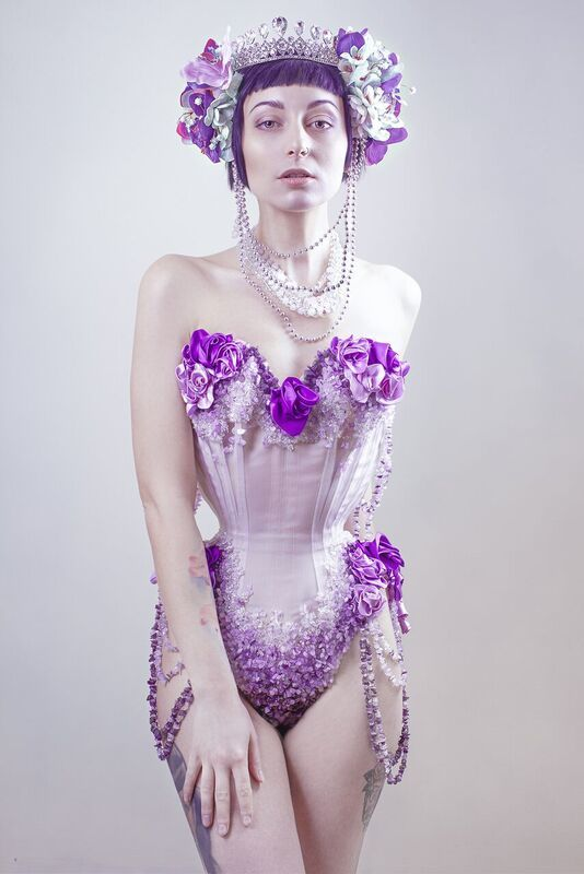 Amethyst / Photography by NEWO, Model Marie Jean Taylor, Makeup by Ambellina, Post processing by NEWO, Stylist Ambellina, Designer Erica Court Couture / Uploaded 14th March 2018 @ 04:31 PM
