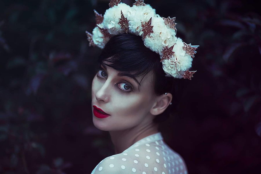 Flower queen / Photography by Anjelica Hyde, Model Marie Jean Saxton, Makeup by Marie Jean Saxton, Post processing by Anjelica Hyde Retouch / Uploaded 2nd March 2020 @ 07:29 PM
