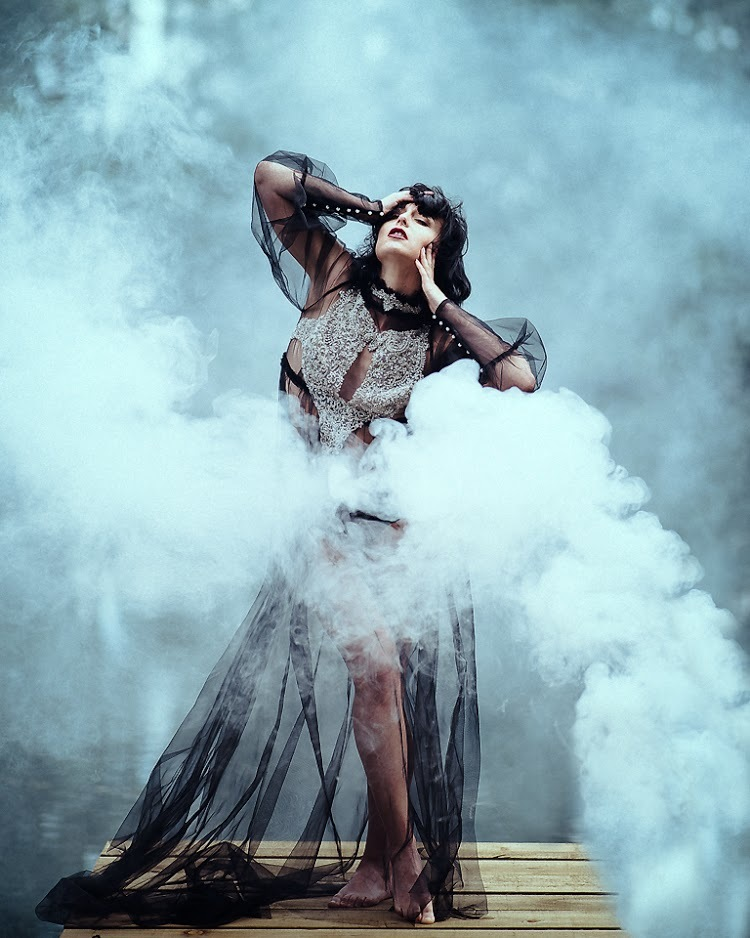 Smoke on the water / Model Marie Jean Saxton, Designer Hause•of•O / Uploaded 21st July 2020 @ 08:34 PM