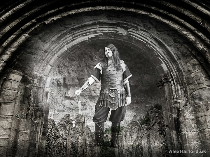 Norse Soldier at Lilleshall Abbey / Photography by Alex Harford, Model Raven Balor, Post processing by Alex Harford / Uploaded 24th July 2017 @ 05:00 PM