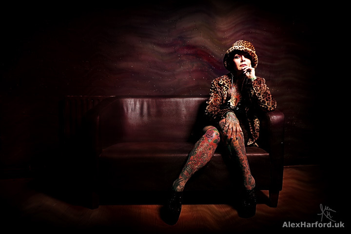 Silverink in Leopard Coat & Hat / Photography by Alex Harford, Post processing by Alex Harford, Taken at Courtyard Studio Stoke on Trent / Uploaded 26th July 2017 @ 11:28 AM