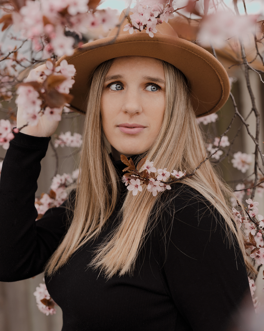 More with the local blossom trees. / Photography by Scott Davis, Model Dilemma Emma / Uploaded 3rd April 2021 @ 08:59 AM