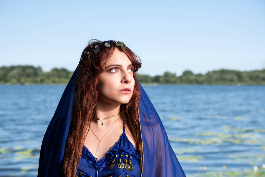 Zara Liore: Surprise: Gypsy bellydancer at the lake / Photography by Vincent den Boer, Model Zara Liore, Makeup by Zara Liore / Uploaded 1st August 2018 @ 01:57 PM