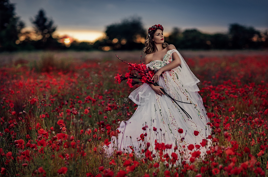 Ewelina Poppies / Photography by RR Photographic (Ruth Chornolutskyy), Model Ewelina K, Post processing by RR Photographic Retouch, Stylist Enchanted Evermore Styled Workshops, Designer SallyMarieMedia1 / Uploaded 27th June 2020 @ 10:36 AM