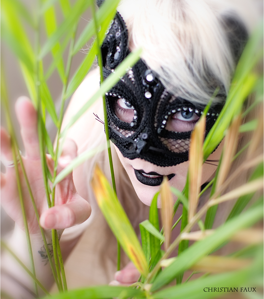 """Catwoman In the undergrowth / Photography by Christian Faux Photography, Model """"Ghost"""" / Uploaded 30th September 2017 @ 12:31 PM"""