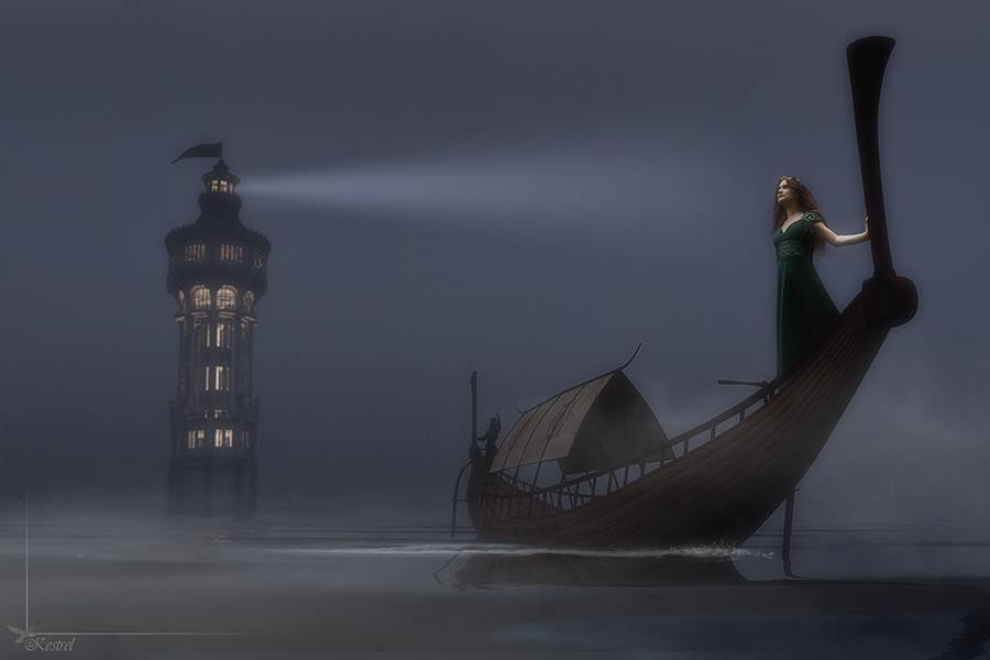 Fleeting Light on a Sea of Darkess / Photography by Kestrel, Model Little-Lo / Uploaded 6th November 2015 @ 06:15 PM