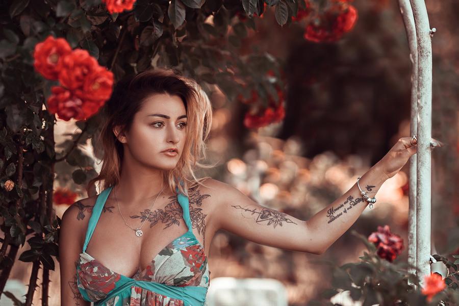 Roses Garden Portrait / Photography by Artspired, Model SamJaz / Uploaded 25th July 2019 @ 05:53 AM