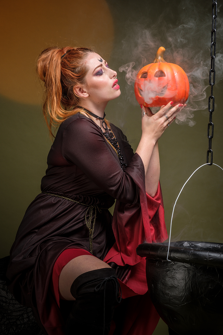 Pumpkin spirits..... / Photography by Gray2, Model Sinopa Rin, Makeup by Sinopa Rin, Post processing by Gray2, Stylist Sinopa Rin, Taken at Fareham Studio, Hair styling by Sinopa Rin, Designer Sinopa Rin, Designer Andy Gaden / Uploaded 29th October 2018 @ 04:03 PM
