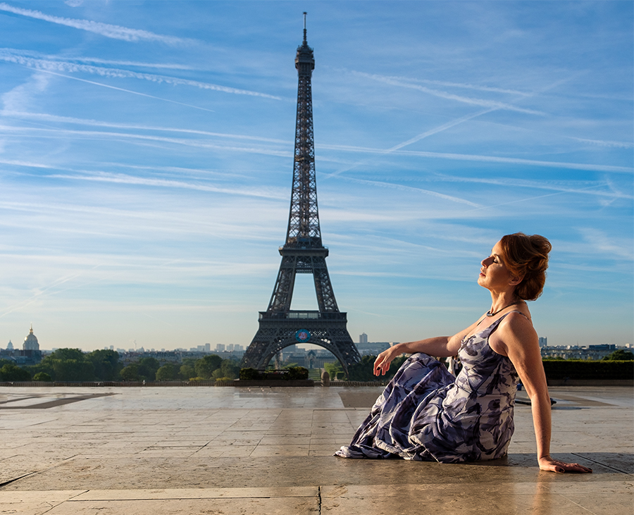 Sunrise in Paris / Photography by Gray2, Model sharon, Makeup by sharon, Post processing by Gray2, Stylist sharon, Hair styling by sharon, Designer Andrew Appleton / Uploaded 21st June 2019 @ 04:57 PM