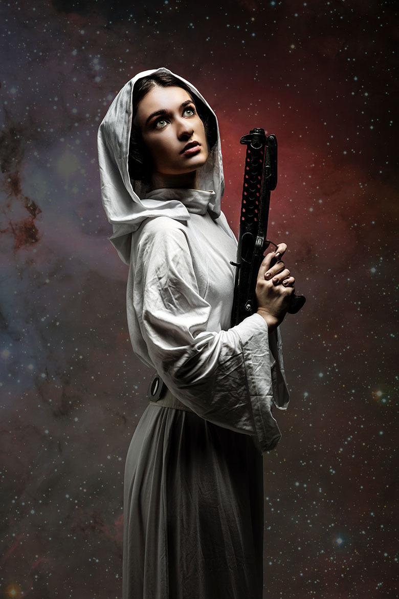 Belle Eve as Princess Leia by Gothic Image / Photography by Gothic Image, Model Belle Eve, Post processing by LensGirl / Uploaded 22nd September 2019 @ 12:34 PM
