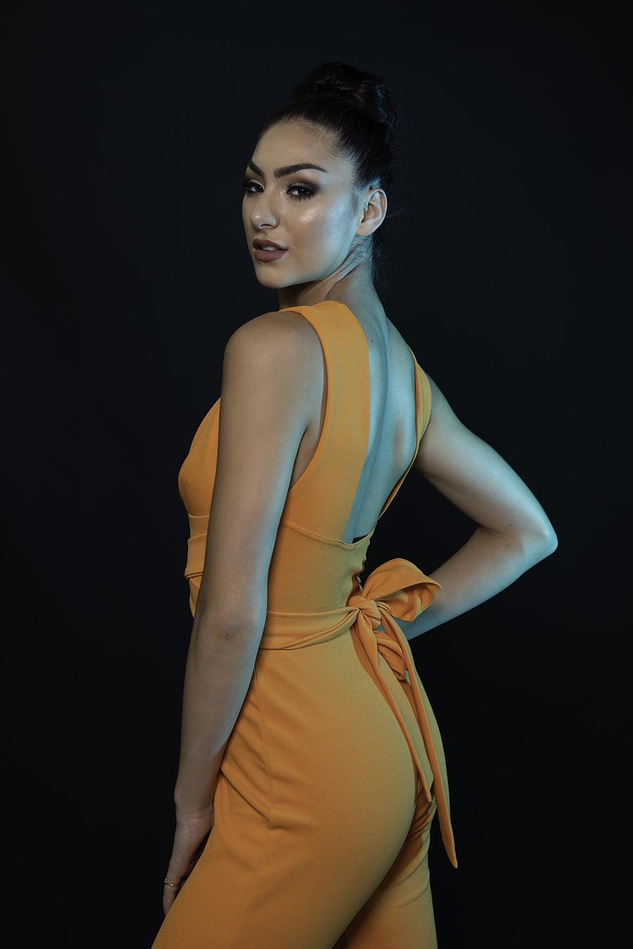 The orange jumpsuit / Photography by Inspire Studios Ltd, Model Elesha Eden, Taken at Inspire Studios Ltd / Uploaded 22nd July 2018 @ 09:29 AM