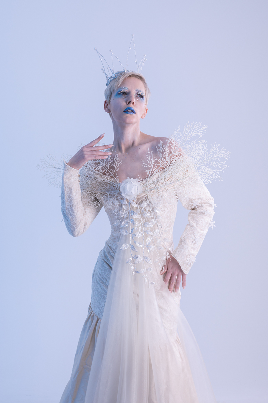 Snow Queen / Photography by Inspire Studios Ltd, Model Amie Boulton, Makeup by Beauty-within, Stylist Inspire Studios Ltd, Taken at Inspire Studios Ltd / Uploaded 15th January 2019 @ 10:30 AM