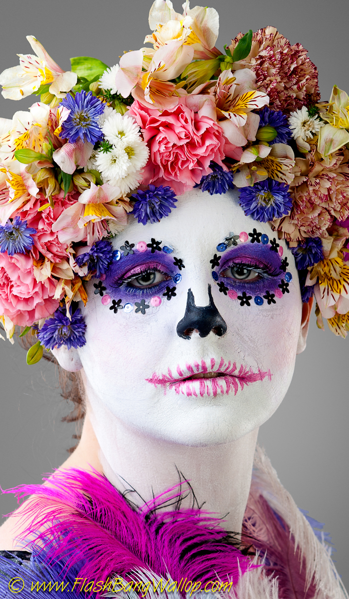 Sugarskull / Photography by Flash Bang Wallop, Model Porcelain  Dancer / Uploaded 18th June 2012 @ 04:06 PM