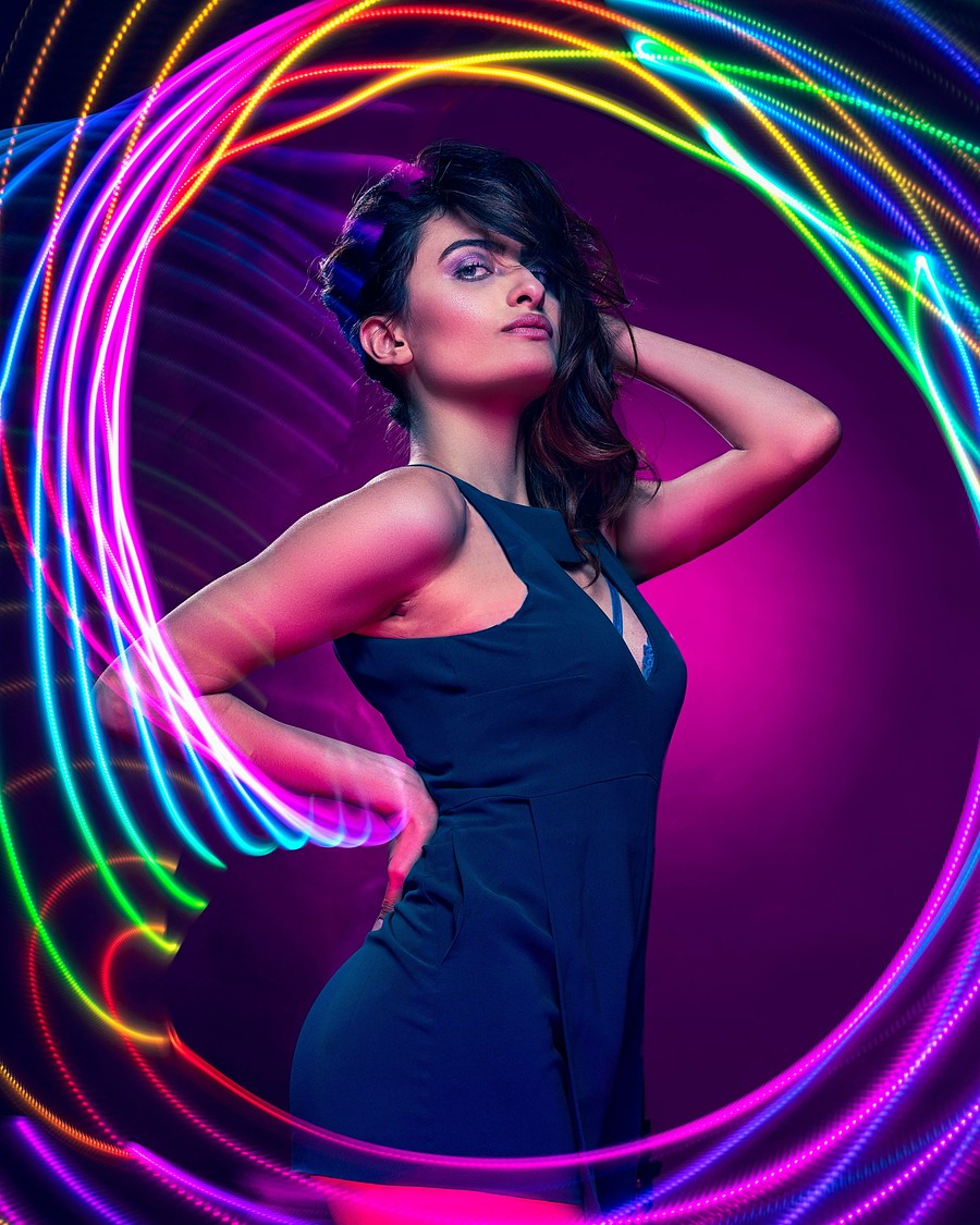 Colour Loop / Photography by David Abbs, Model Ria Fantastic, Taken at Shutter House / Uploaded 20th October 2018 @ 09:38 AM