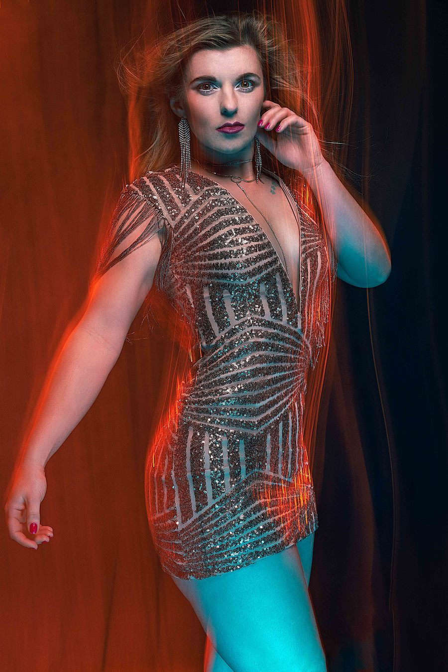 Fire light / Photography by David Abbs, Model Helen-Rose, Taken at Shutter House / Uploaded 17th December 2018 @ 08:06 PM