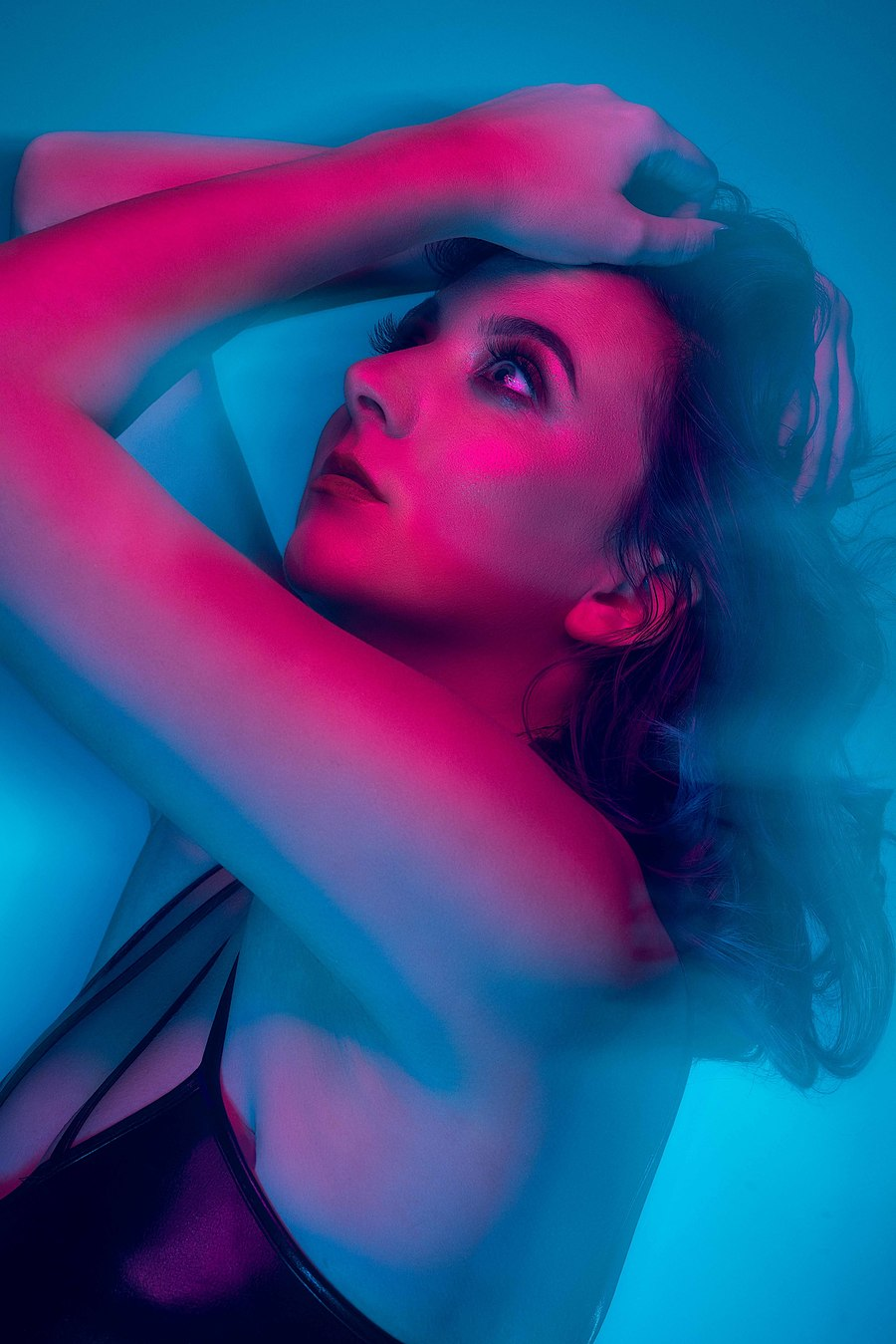 Blue Haze / Photography by David Abbs, Model PJ Elise, Makeup by Make Up With LRN, Taken at Shutter House / Uploaded 16th February 2019 @ 12:26 PM